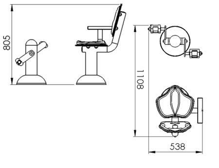 Dimension de l'agrès pédalier et son siège